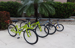 Explore the neighborhood of Providenciales with these complimentary bikes